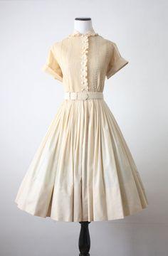 Suzy Perette dress - 1950s cream lace dress