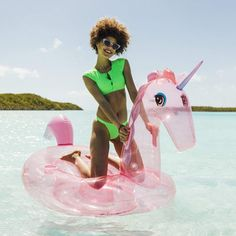 """The new glitter unicorn """"luxury float"""" from Funboy. We need it! Or maybe for our kids? #outdoorplay #beachtoys #pooltoys #poolfloats #summerfun #unicorngift Giant Pool Floats, Cool Pool Floats, Popular Pool Floats, Mermaid Float, Flamingo Pool, Cool Mom Picks, Cool Gifts For Kids, Cool Pools, Summer Fun"""