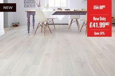 Galleria Professional Engineered European Rustic Oak Flooring x Winter Dawn Lacquered Wood Flooring Uk, Hall Flooring, Real Wood Floors, Engineered Wood Floors, Kitchen Flooring, Long Room, New Kitchen, Dining Table, Rustic