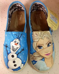 Custom Frozen shoes