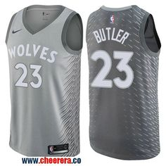 Men's Nike Minnesota Timberwolves #23 Jimmy Butler Gray NBA Swingman City Edition Jersey