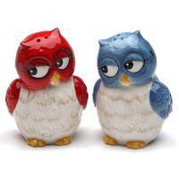 Owl Couple Salt and Pepper Set RetroPlanet.com