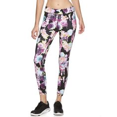 Women's FILA Sport® Maui Workout Leggings, Size: M, Floral Splash (37