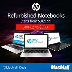Save up to $330 on an #HP notebook at MacMall. #DailyDeal