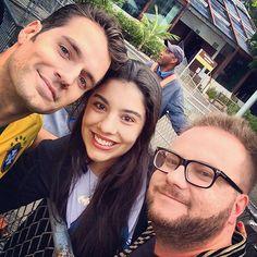 """""""Selfie em trio, @maxbrandebuque,  @maier_rezende e #HenryCavill no #riodejaneiro.  #henrycavill #themanfromuncle #NapoleonSolo #oagentedauncle…"""""""