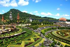 Nong Nooch, Thailand. find a wide variety of gardens inspired from all over the world. Including traditional Asian tropical gardens, the incredible Cactus Garden to French and Roman gardens.