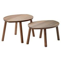 IKEA - STOCKHOLM, Nesting tables, set of walnut veneer, The table surface in walnut veneer and legs in solid walnut give a warm, natural feeling to your room. The distinctive grain pattern in the walnut veneer gives each table a unique character. Ikea Coffee Table, Coffee And End Tables, End Table Sets, Round Coffee Table, Side Tables, Ikea Side Table, Ikea Stockholm, Stockholm 2017, Ikea 2018