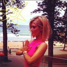 When she thanked the gods for this amazing hairstyle. | 21 Times Delta Goodrem Gave You Massive Hair Envy