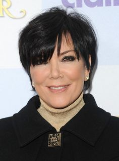 Short Haircuts for Older Women: Kris Jenner Short Razor Haircut