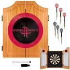 NBA Houston Rockets Wood Finish Dart Cabinet Set