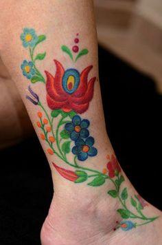Szép népi tetkó / #Folkart #tattoo forrás: Népi Shop