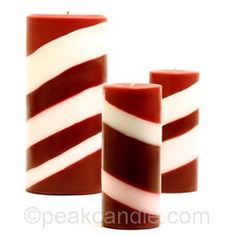 d.i.y tilted candles with holiday scents