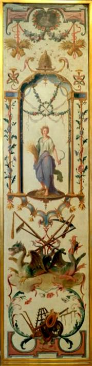 Painted panel by Claude Audran for Les douze mois grotesques. Origin: France     Period: Louis XIV.