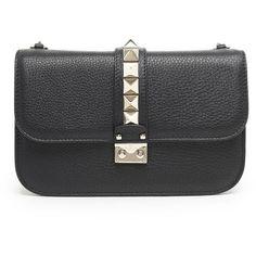 VALENTINO GARAVANI Pw2b0398vsf0no (6.485 BRL) ❤ liked on Polyvore featuring bags, handbags, crossbody handbags, valentino crossbody, leather purses, leather crossbody handbags and studded leather handbags