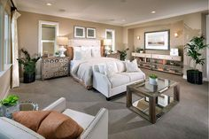 This master bedroom at Primrose II in Tracy is sure to get rid of any Monday blues // Did we mention, there is no Mello Roos here! Home Management, New Home Construction, Love Your Home, Unique Wall Decor, New House Plans, Loft Spaces, New Homes For Sale, Bedroom Styles