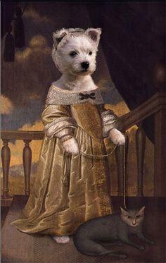 (Pet portraits by european artist Valerie Leonard)