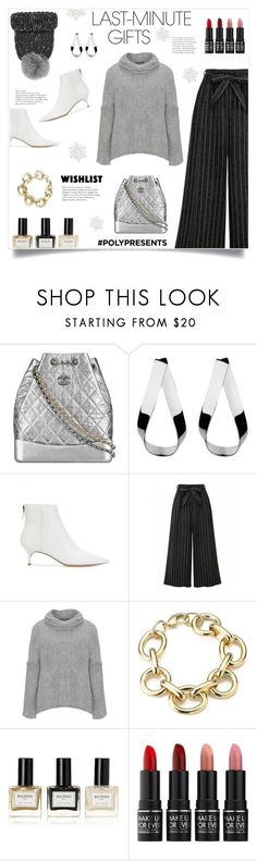 """""""Last Minute Gifts!"""" by diane1234 ❤ liked on Polyvore featuring Chanel, Jennifer Fisher, Alexandre Birman, Amandine, Balmain, MAKE UP FOR EVER, Eugenia Kim, WishList, contestentry and polyPresents"""