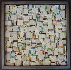 ":Petra Kartak: ""Three Elements"" (inspiration for foil canvas) Mosaic Tray, Wood Mosaic, Stone Mosaic, Mosaic Wall, Mosaic Glass, Mosaic Tiles, Glass Art, Stained Glass, Mosaic Art Projects"