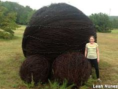 World's Largest Ball of Barbed Wire, Denton, Texas - lol I love bizarre roadside attractions. Damn you Denton, you're sucking me in...
