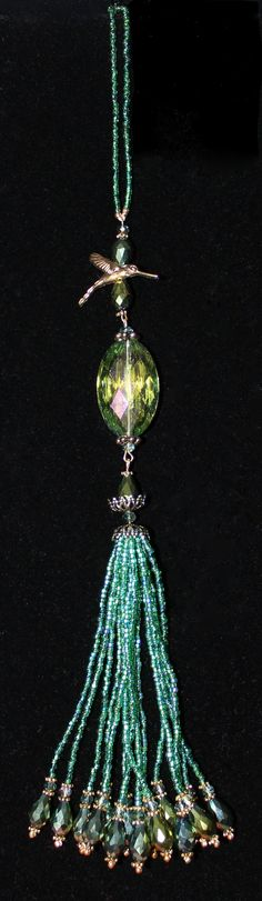 EMERALD GREEN 2013 Color of the Year  BEADED by GMBDesignsCustom, $15.00