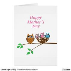 Create your own unique greeting on a Owl card from Zazzle. Choose from thousands of customizable templates or create your own from scratch! Holiday Cards, Christmas Cards, Mother's Day Greeting Cards, Happy Mothers Day, Photo Cards, Finding Yourself, Owl, Nice, Christian Christmas Cards