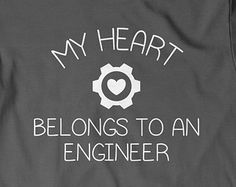 My Heart Belongs to Engineer T-Shirt T Shirt Tees Mens Ladies Womens Gift Present Engineering Dad Father Husband Wife Boyfriend Wifey Hubby