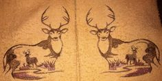 Nature Calls Elk Caribou or Moose embroidered by TheHappyvibe, $18.00