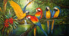 Pintura a óleo de Fátima Corrêa