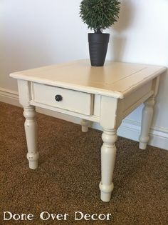 Why not paint my cocktail table and end tables like this when I redo the living room?