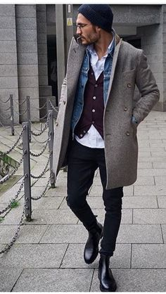 New Moda Hombre Hipster Menswear Outfit 32 Ideas Fashion Mode, Mens Fashion, Man Street Style, Mode Outfits, Fashion Outfits, Fashion Hair, Fashion Rings, Mode Man, Herren Outfit