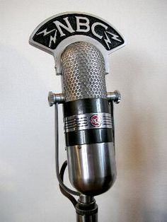 NBC Station Microphone The Hollywood stars use to use in the 1940's & 1950's