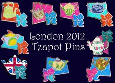 London Teapot Olympic Pins. Add Around The Rings on www.Twitter.com/AroundTheRings & www.Facebook.com/AroundTheRings for the latest info on the Olympics.