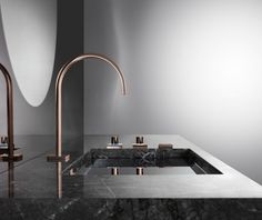 Cyprum MEM fittings by Sieger Design for Dornbracht | 7 Luxury Bathroom Brands at Salone del Mobile 2016 You Can't Miss ➤To see more Luxury Bathroom ideas visit us at www.luxurybathrooms.eu #luxurybathrooms #homedecorideas #bathroomideas @BathroomsLuxury