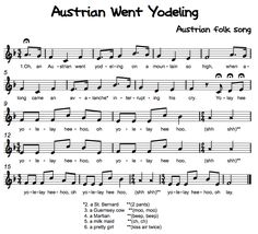 Beth's Music Notes: Austrian Went Yodeling Preschool Music, Music Activities, Teaching Music, Movement Activities, Singing Lessons, Music Lessons, Singing Tips, Singing Games, Learn Singing