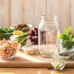 Today, we're making a mason jar salad that is healthy, bright, beautiful, and perfect for bringing to work for a delicious lunch.