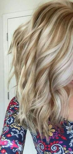 Golden lowlights with platinum highlights