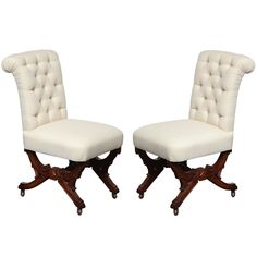 Superior Tufted Side Chair With Casters....nice For Dining Chairs | For The Home |  Pinterest | Side Chair