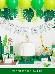 Pack imprimible selva - Jungle Party Package - Safari Party Package - Personalized Printable - Welcome to our website, We hope you are satisfied with the content we offer. Safari Birthday Party, Jungle Party, Baby Birthday, First Birthday Parties, First Birthdays, Baby Shower Themes, Baby Boy Shower, Baby Shower Jungle, Shower Ideas