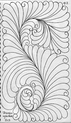 LuAnn Kessi: My Quilting Sketch Book......Feathers with a Tail