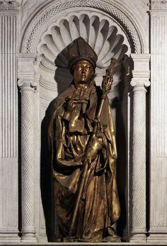 São Luís de Toulouse,  entre 1421-25, em bronze, altura 226 cm, Museo dell'Opera di Santa Croce, Florença.