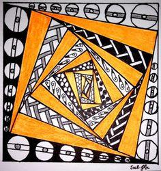 Lieschens-Bilder: Zentangle #354 Weekly Challenge # 252