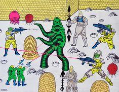 Las guerras de un lugar que no existe. Puede que haya estado en un lugar que nadie conoce. En un pasaje donde también hay guerra pero los luchadores son inéditos. Motohiro Hayakawaa dibuja monstruos, bestias, criaturas desconocidas, alienígenas y guerreros que pelean por vivir.