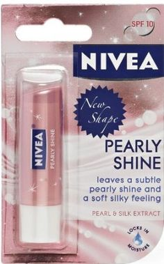 Nivea Lip Balm Care Pearly Shine 4.8g | Pearl & Shine Silk Extract x 3 Packs: Amazon.co.uk: Health & Personal Care