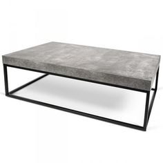 PETRA, coffee table and side table : concrete aspect and steel, without concrete - designed by INÊS MARTINHO,