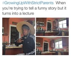 Growing up with strict parents