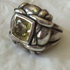 Spectacular Sterling Silver & Lemon Quartz Big Bold Ring, Designer Style by SweetBettysBling on Etsy