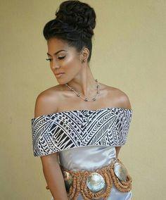 Beautiful Miss Tonga 2015 (shes part Tongan/Samoan and British)