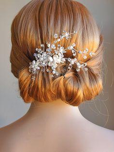 Braut Haarschmuck Crystal Hochzeit Haar Kamm von GlamorousBijoux