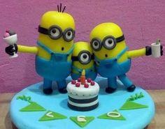 adorno de torta minion!!