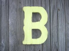Shabby chic Decorative Wooden Letter B nursery by LettersofWood, $28.00